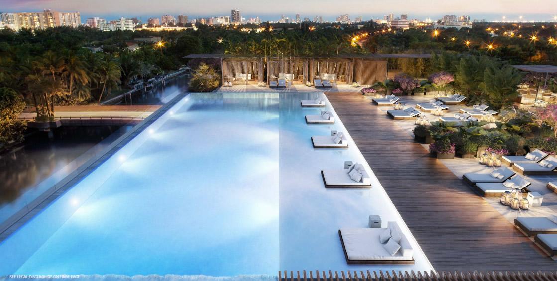 Ritz Carlton Luxury Condos Miami Beach Pool Deck New
