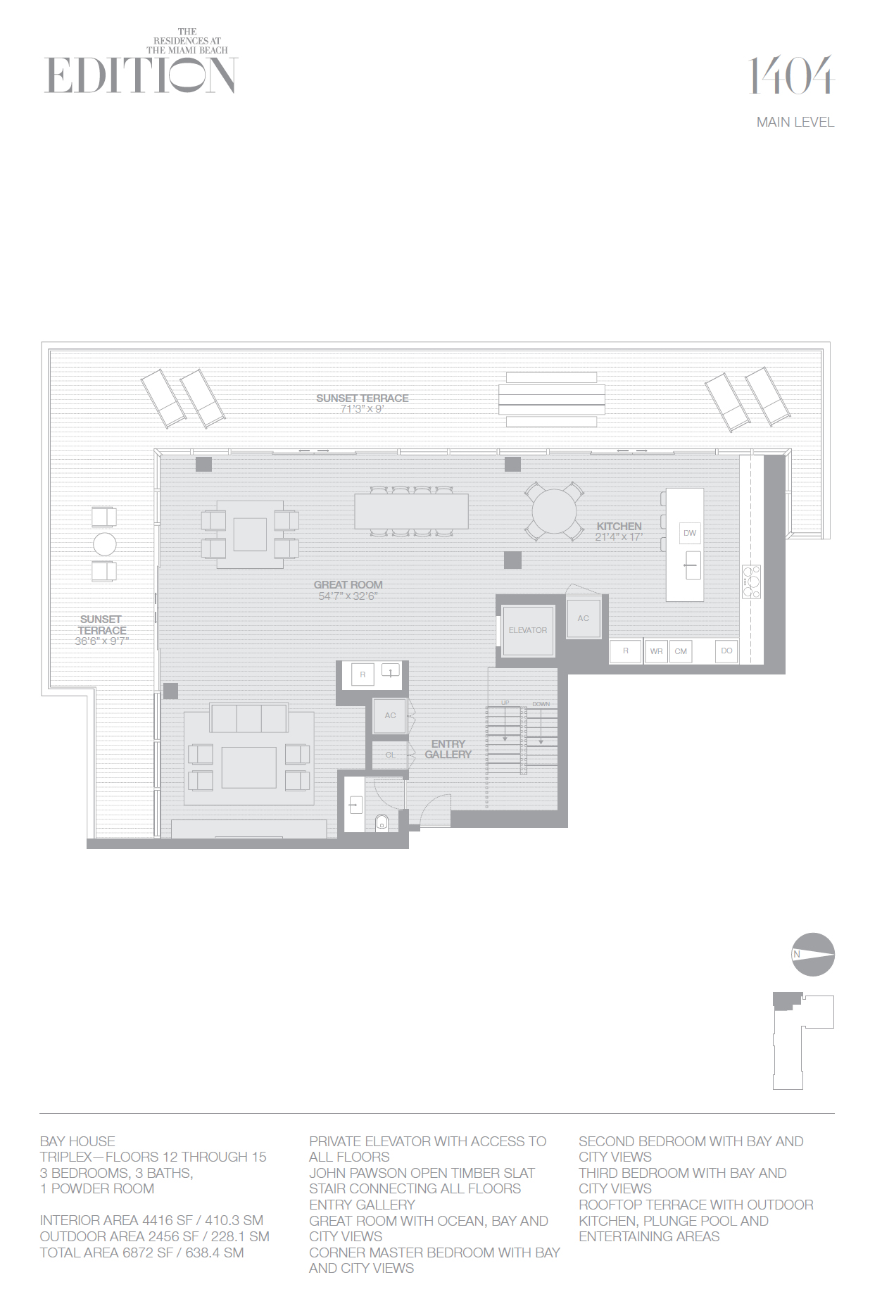 Edition residences miami beach for Floor plans for 160 000