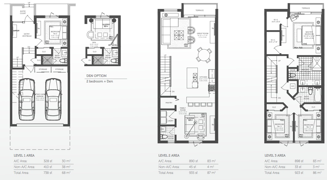 Luxury townhomes floor plans for Luxury townhome floor plans