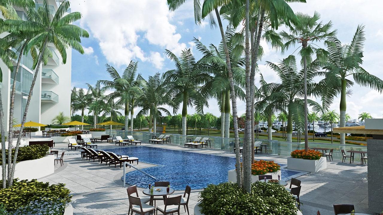 Vue Sarasota Bay Pool Area New Build Homes
