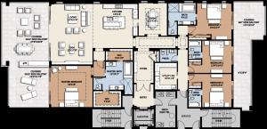 Infinity Longboat Key 4 bedroom floorplan