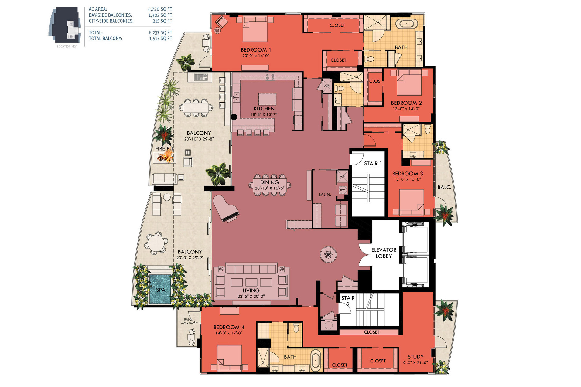 Sansara condos in sarasota luxury bay view condosnew for Condominium floor plan