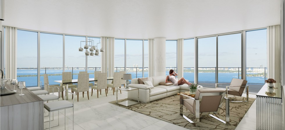 Aria on the Bay. New project of luxury condos on Biscayne Bay