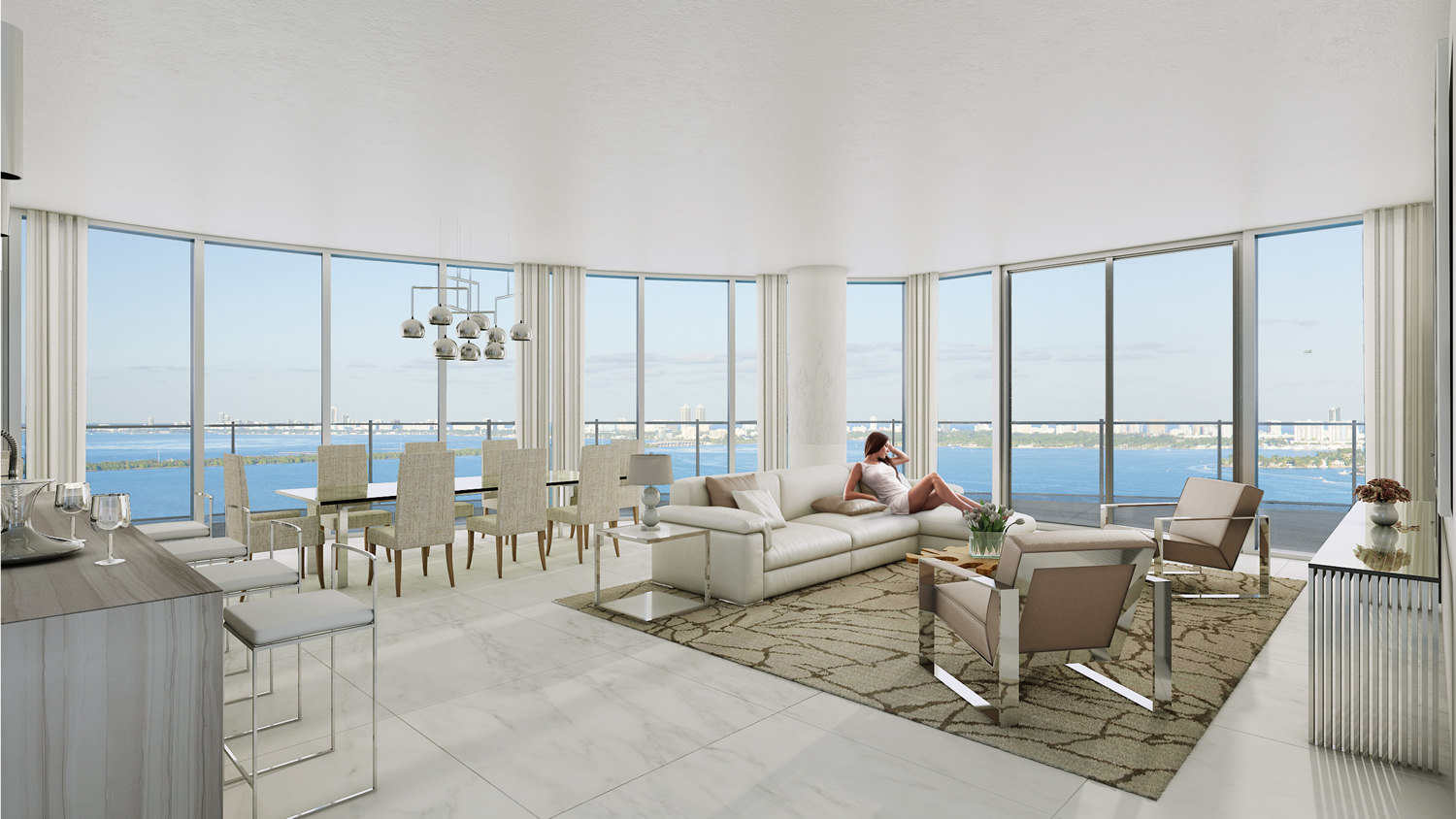 Aria on the Bay is a new luxury condo tower with Biscayne water ...