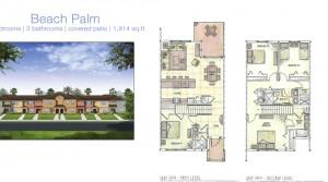 The Beach Palm model vacation homes at Storey Lake near Disney