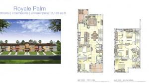 The Royale Palm model vacation homes at Storey Lake near Disney