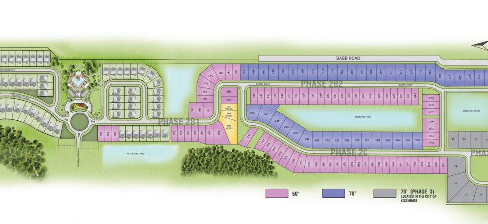 Veranda Palms Site Plan phase 2 and phase 3