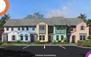 New townhomes at Festival Resort near Disney
