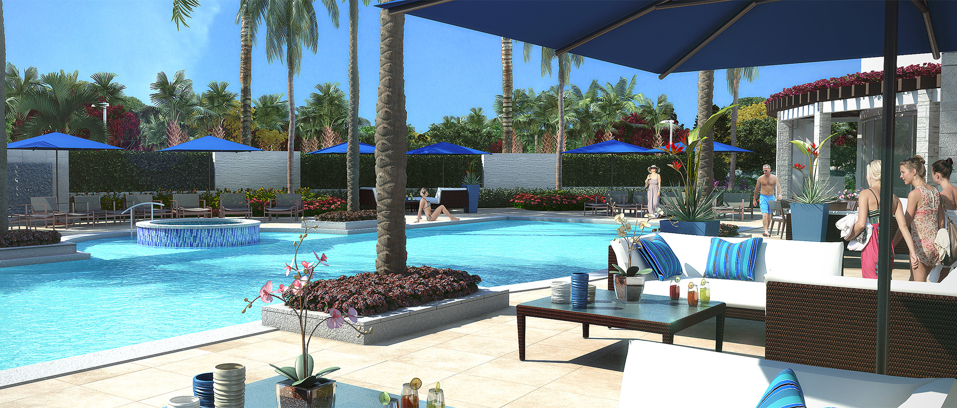 Azure luxury condos west palm beach pool new build - Palm beach pool ...
