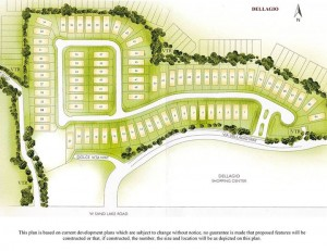 Site plan Dellagio Residences in Dr Phillips. New luxury homes
