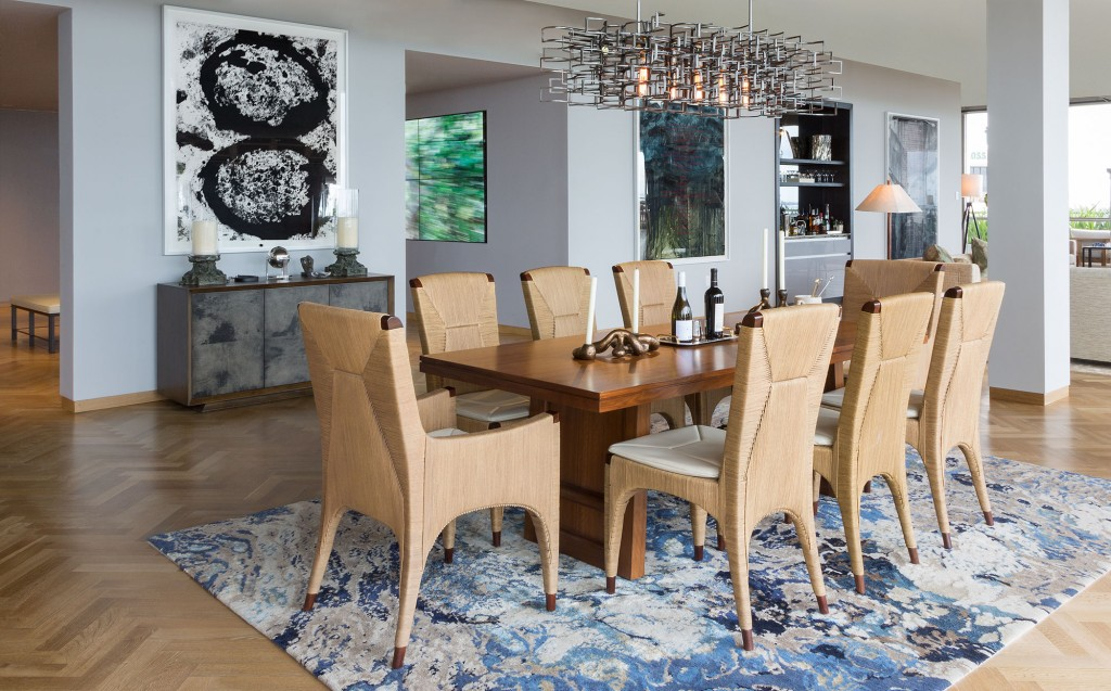Park Grove at Coconut Grove luxury condo dining rooms