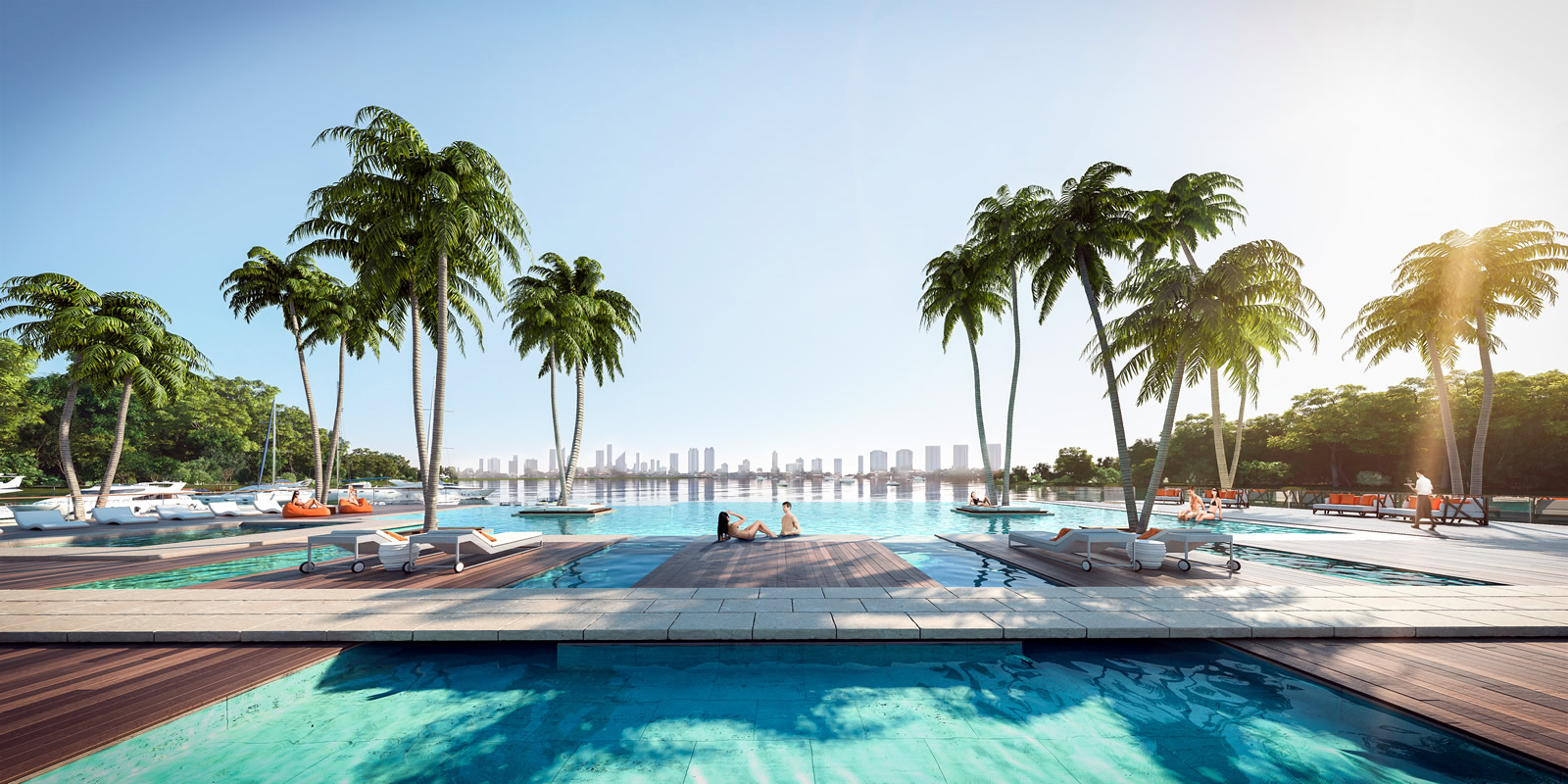 The Harbour North Miami Beach Infinity Pool New Build