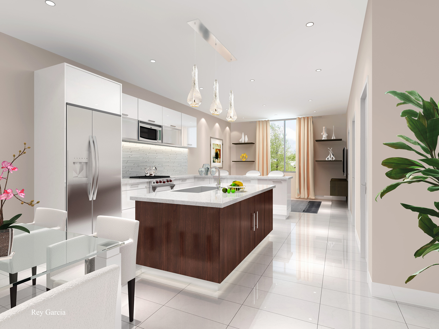 101 bay harbor new construction townhomes for sale in bay for Kitchen room model
