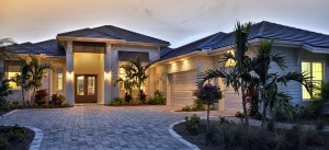 Amelia model at Hidden Harbor. New waterfront homes in southwest Florida