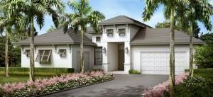 Antilles model at Hidden Harbor. New waterfront homes in southwest Florida