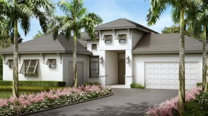 Antilles model at Hidden Harbor. New waterfront homes in southwest Florida
