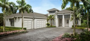 Captiva model at Hidden Harbor. New waterfront homes in southwest Florida