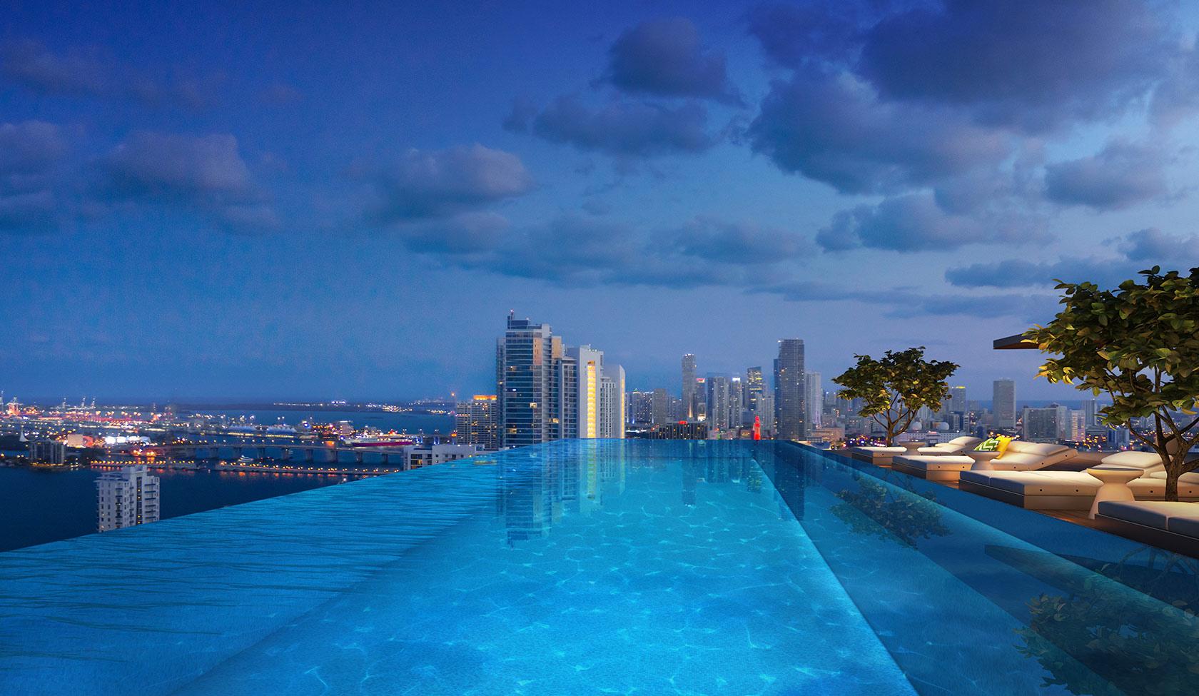 Ion Miami Condos Infiniti Night New Build Homes