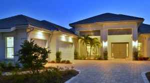 Sanibel model at Hidden Harbor. New waterfront homes in southwest Florida
