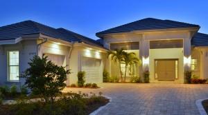 Sanibel model at Hidden Harbor. New waterfront homes in southwest Florida