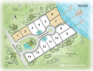 Spice Bay on Siesta Key. Luxury waterfront homes in Sarasota