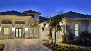 Useppa model at Hidden Harbor. New waterfront homes in southwest Florida