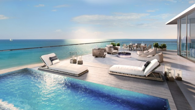 Auberge Beach Residences & Spa. Luxury oceanfront condos in construction