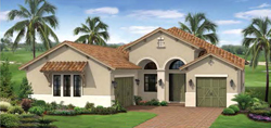 Inverness II model TwinEagles community golf homes in Naples Florida