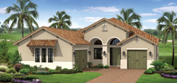 Inverness model TwinEagles community golf homes in Naples Florida