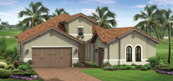 Prestwick model TwinEagles community golf homes in Naples Florida