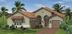 St Andrews model TwinEagles community golf homes in Naples Florida