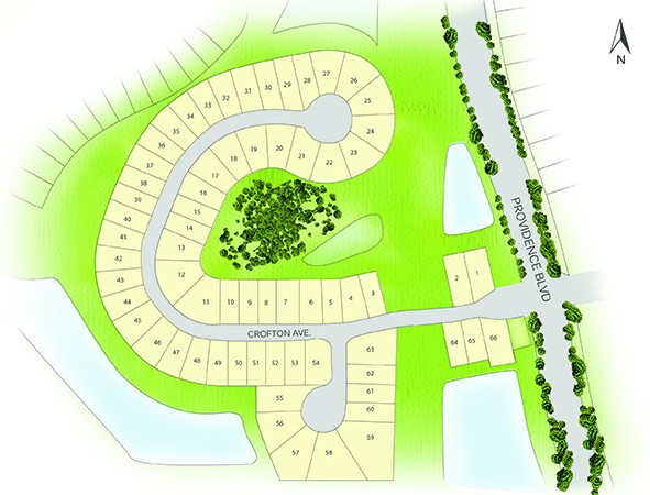 Site plan of Crofton Springs in Providence, Orlando