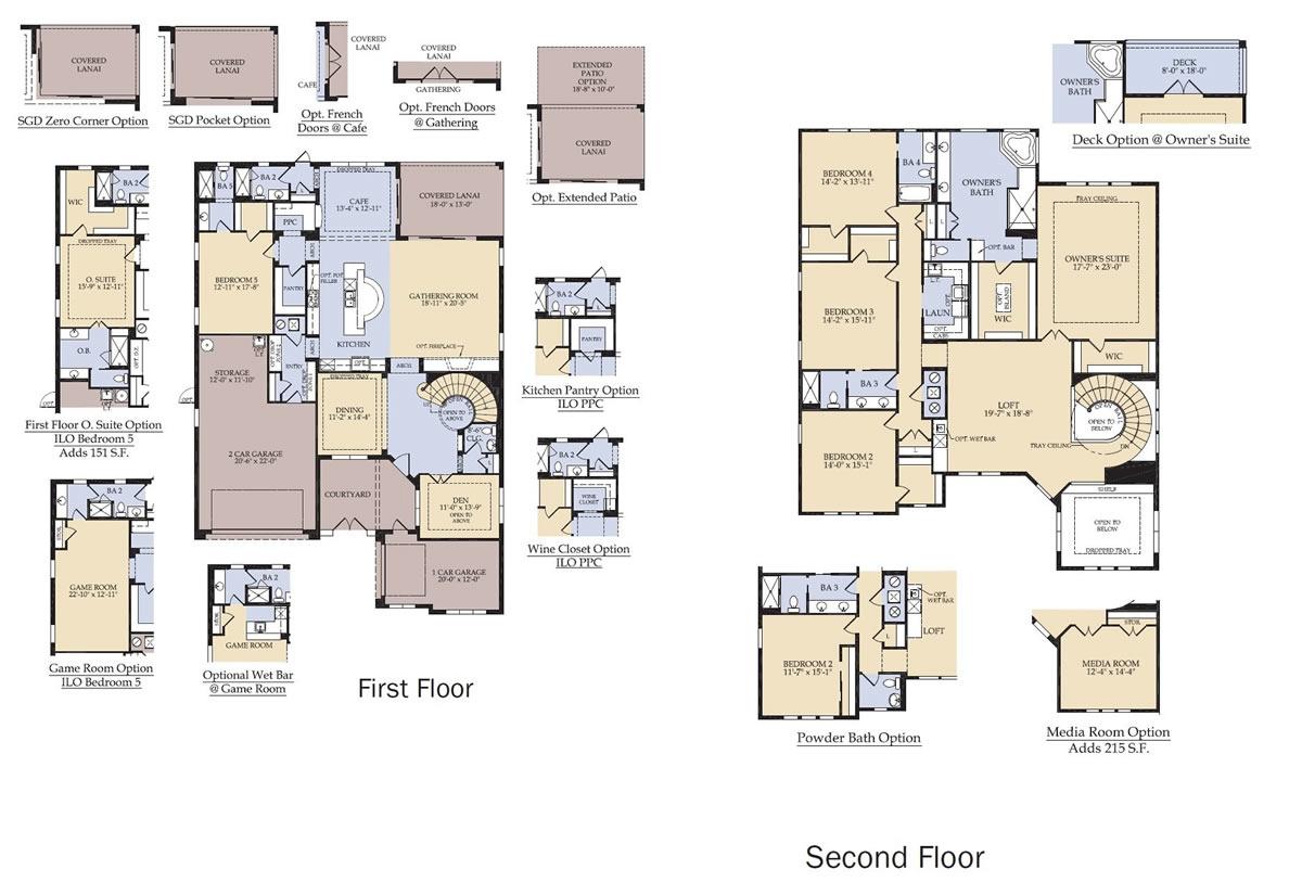 Enclave at villagewalk new homes in lake nona for Floor plans villages florida