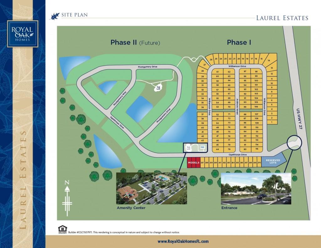 Laurel Estates vacation homes for sale near Disney. Siteplan