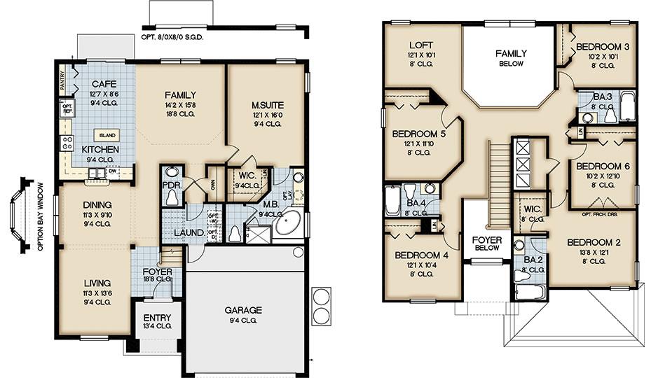 Aviana Resort in Davenport OrlandoNew Build Homes – Floor Plans For Square Homes