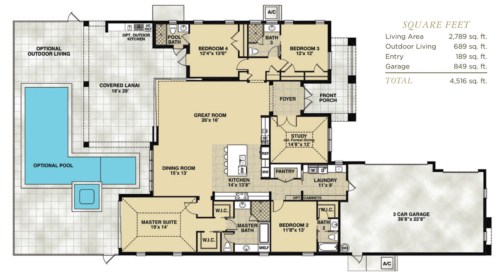 Hidden harbor estero for Florida home builders floor plans