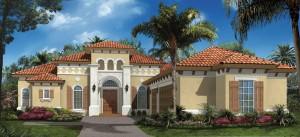 Harbourtown II model at Lakoya in Lely Resort Naples new homes