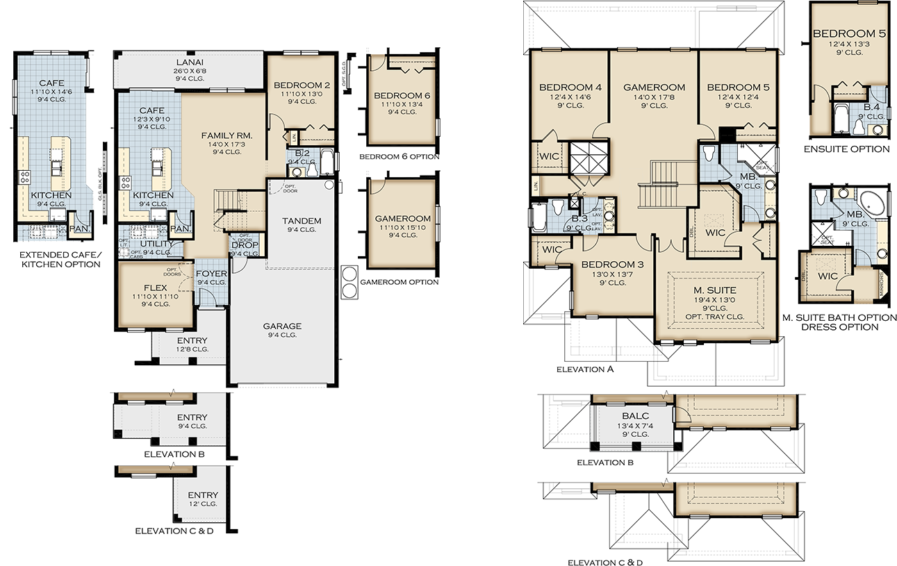 New homes at legacy park kissimmee for 02 floor plan
