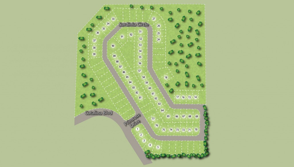 Site Plan Williams Preserve new homes for sale in Davenport Florida