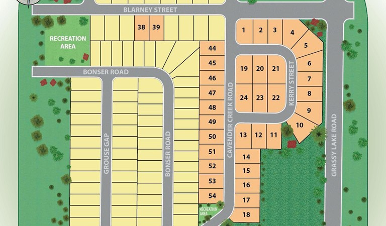 Ardmore Reserve Site Plan new homes in Minneola, Fl