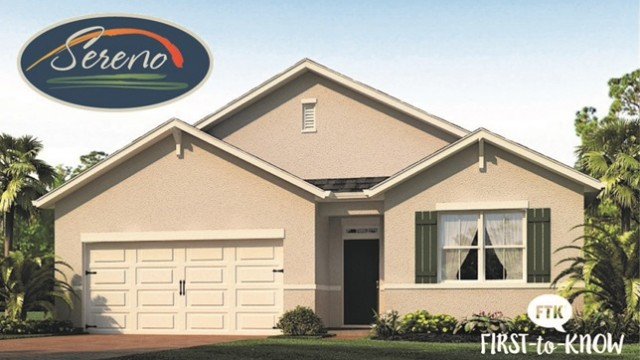 Sereno in Davenport. New homes for sale