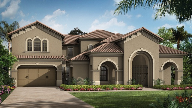 Estancia at windermere new build homesnew build homes for Tuscany model homes