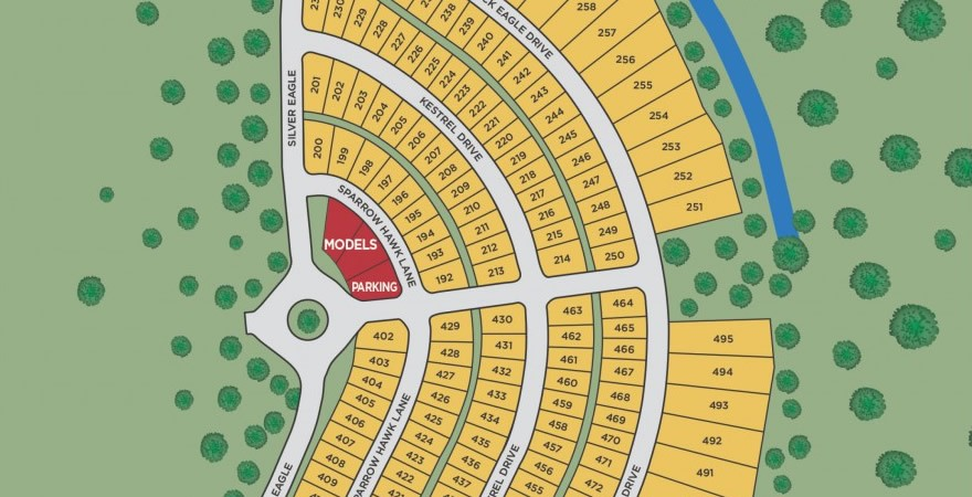 Eagle Pointe site map new homes in Groveland