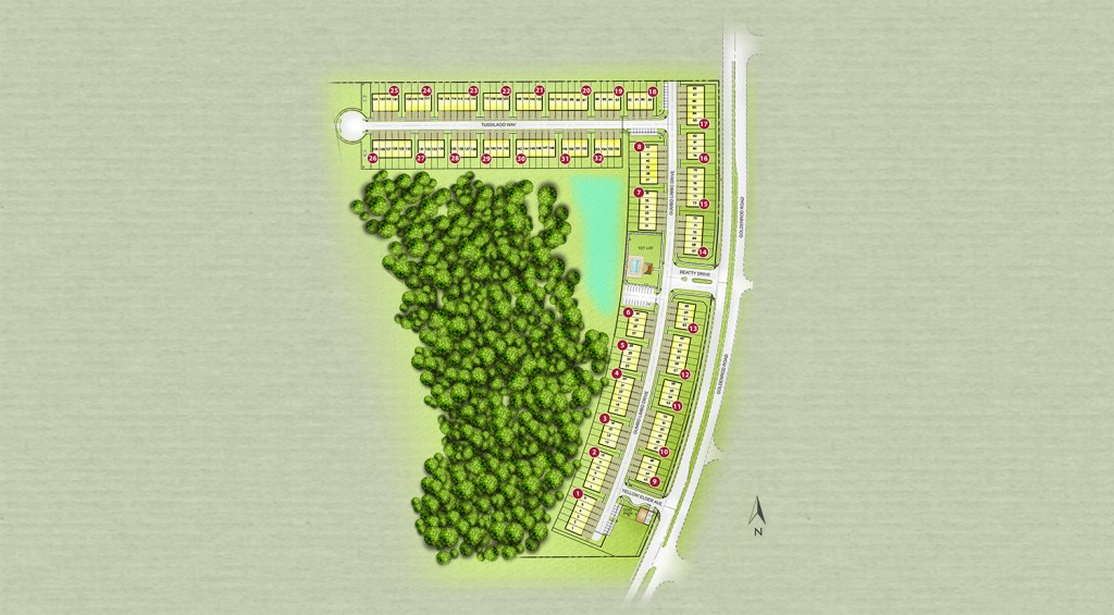 Goldenrod Reserve Site Plan. New townhomes in Orlando