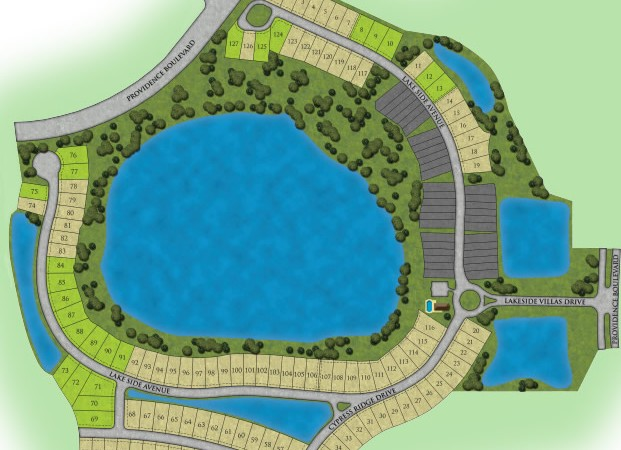 Lakeside at Providence new homes in Davenport site plan