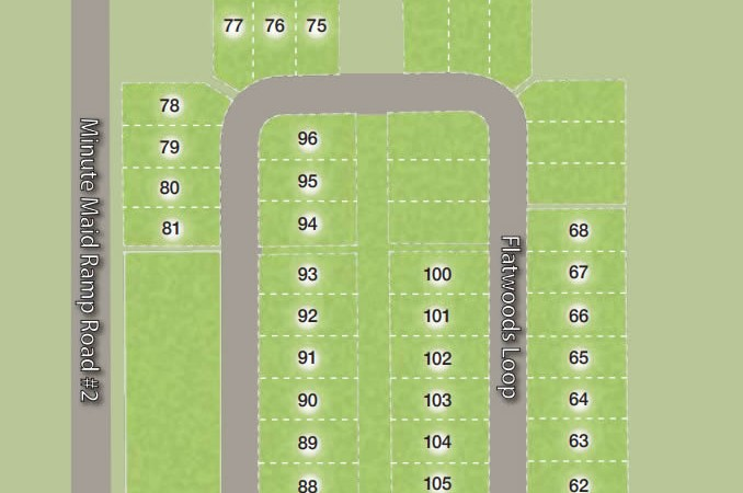 Siteplan Natures Reserve new homes in Davenport