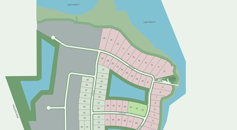 Estates at Lake Pickett Site Plan