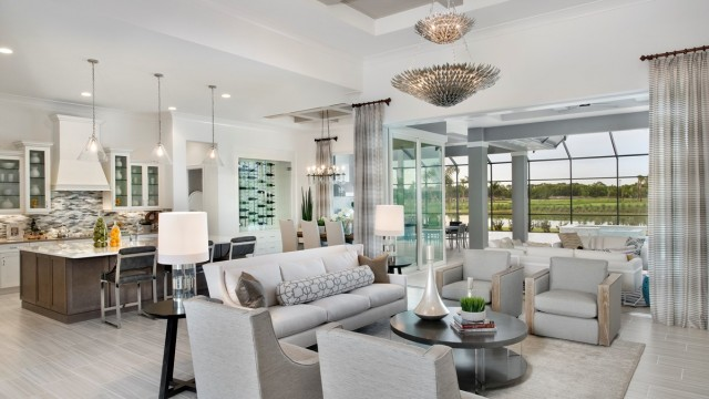 New waterfront homes at the Magnolia Collection at The Isles of Collier Preserve
