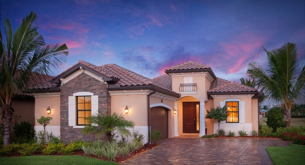 Victoria model new homes at Twin Eagles in Naples