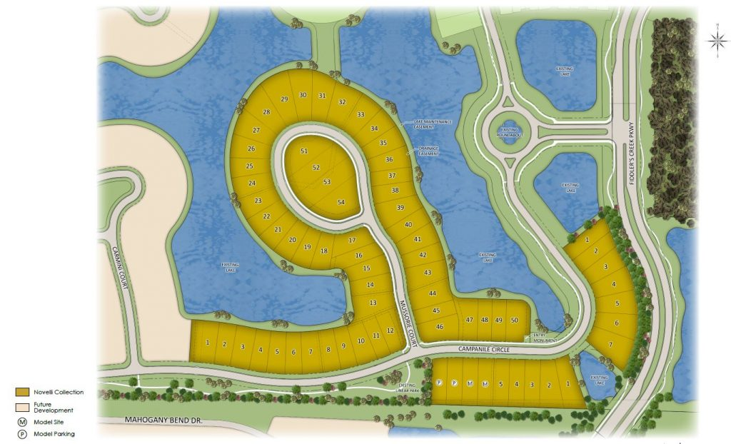 Site plan of Amador at Fiddlers Creek in Naples